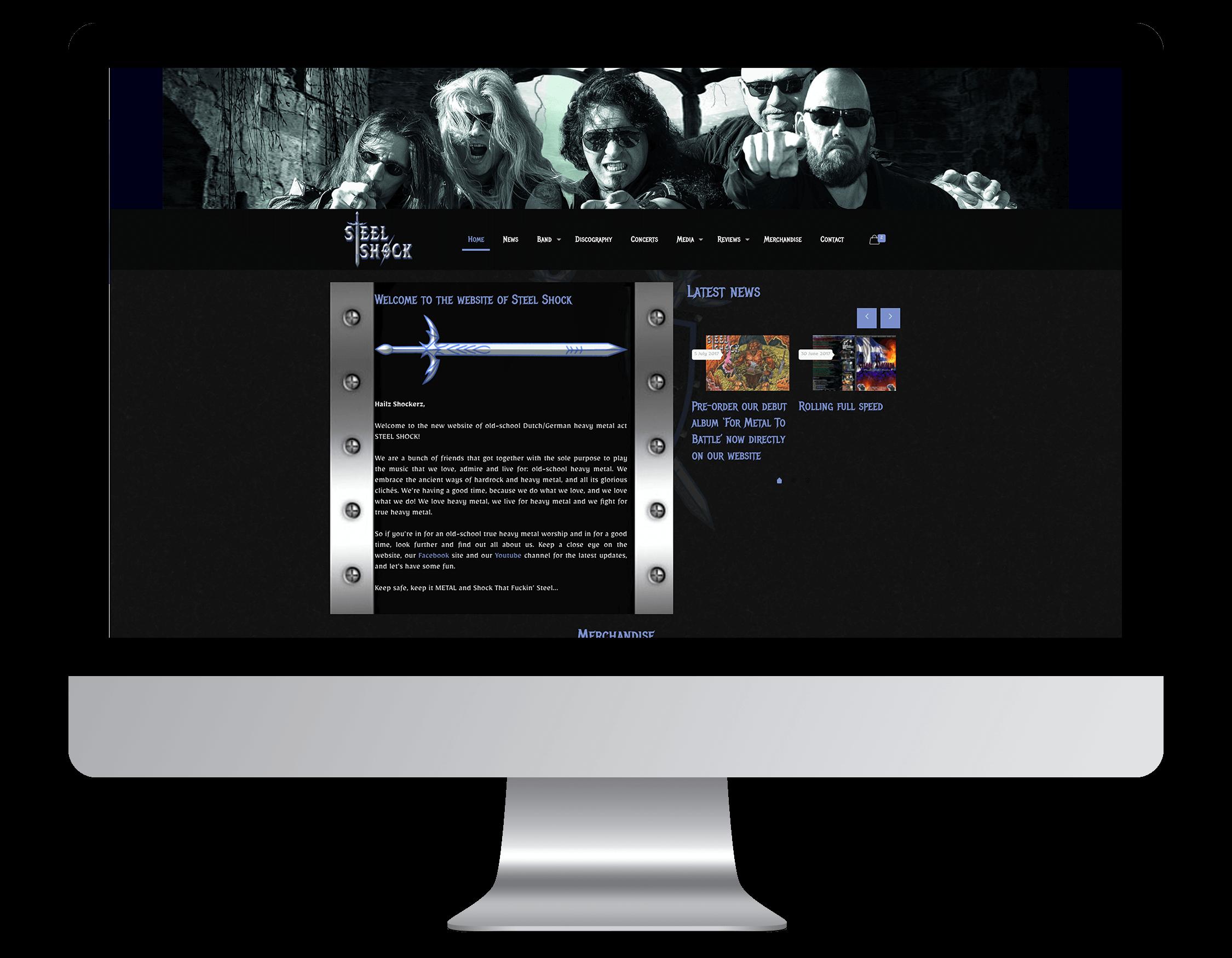 Een website laten maken door Steel Shock