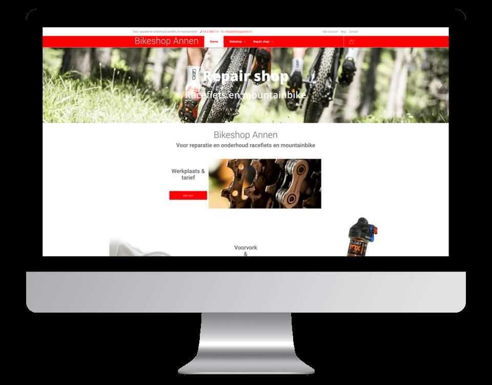 Een website laten maken door BIkeshop Annen