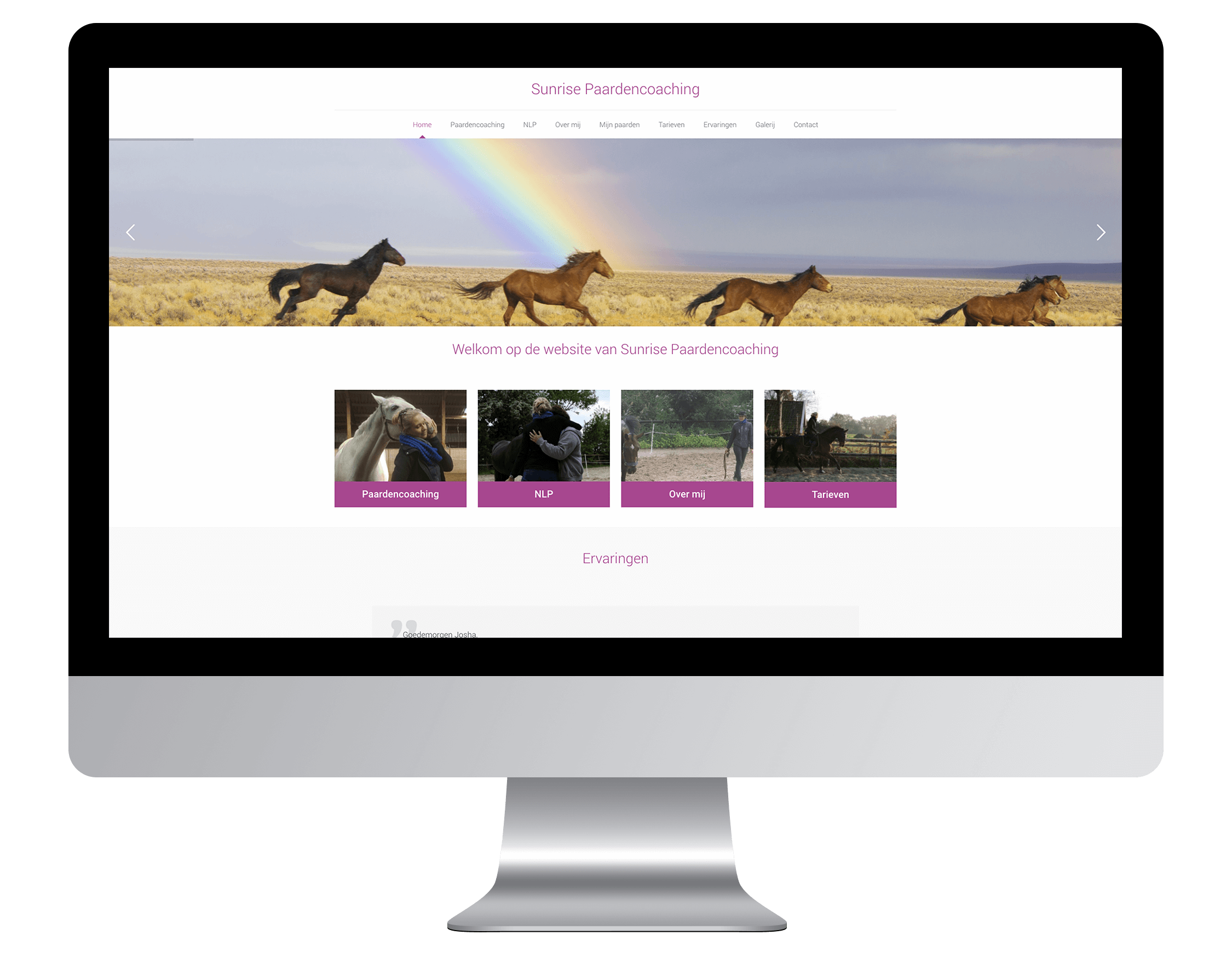 Website laten maken door Sunrise Paardencoaching