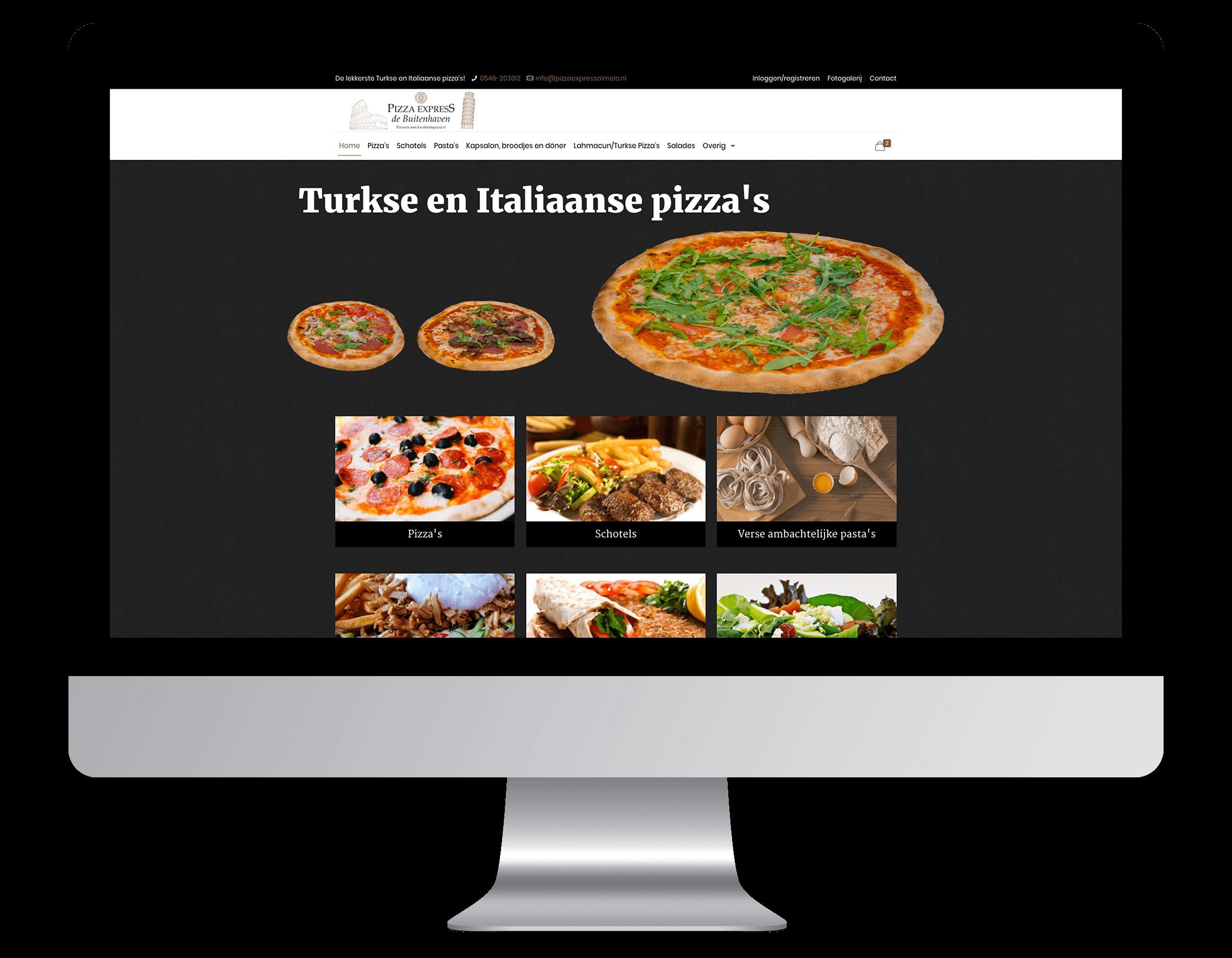 Een nieuwe website laten maken door Pizza Express De Buitenhaven