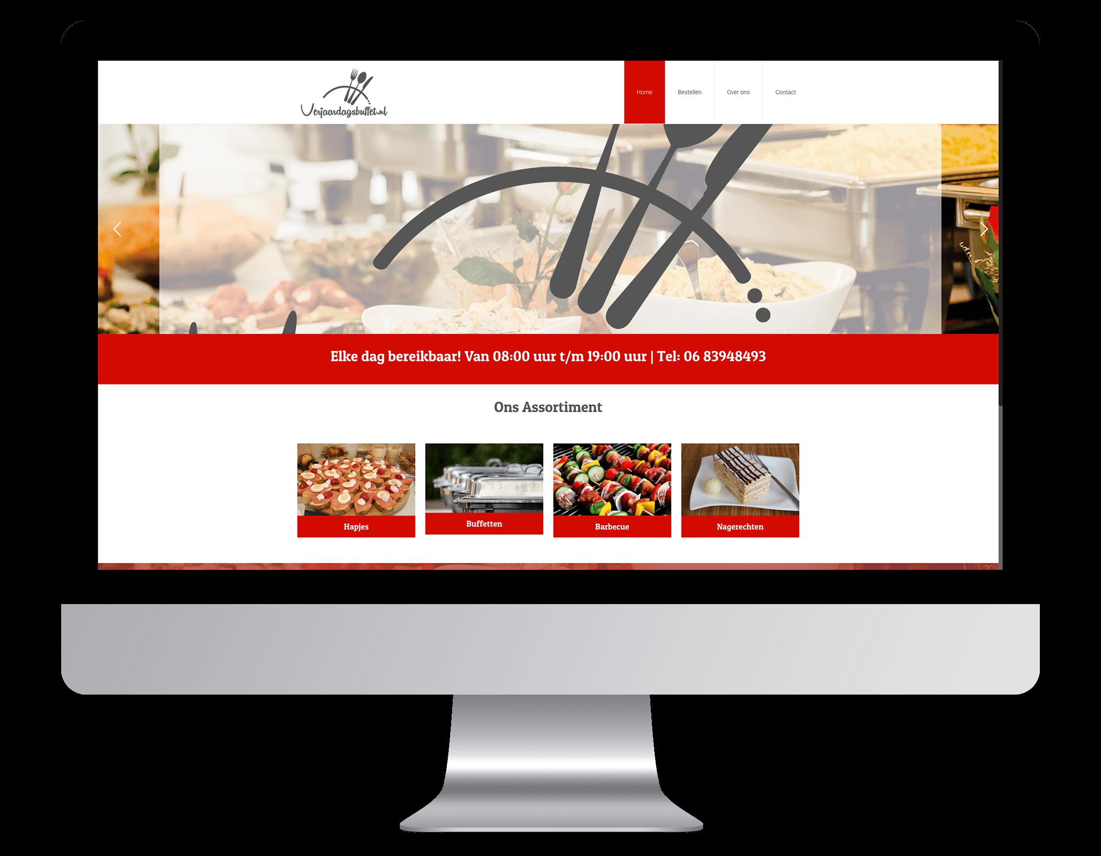 Een nieuwe website laten maken door Verjaardagsbuffetbestellen