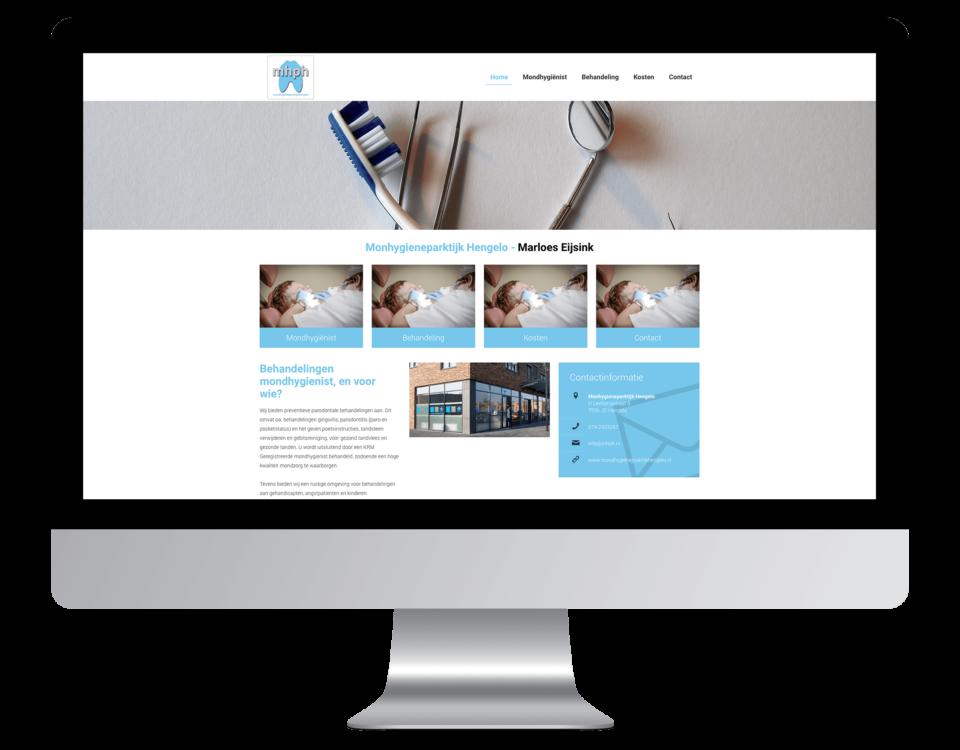 Website laten maken door Mondhygienepraktijk Hengelo
